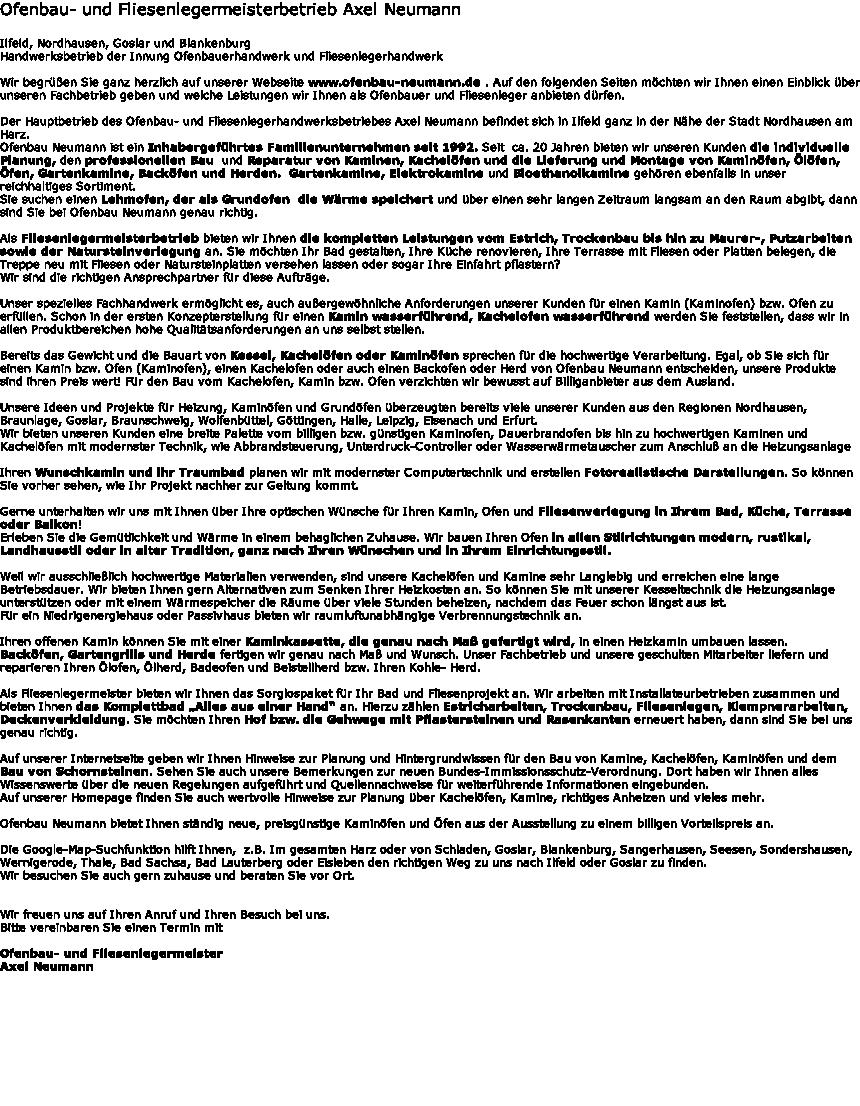 Kachelofen Neu Fliesen ofenbau neumann ilfeld kachelofenbau und fliesenlegen vom